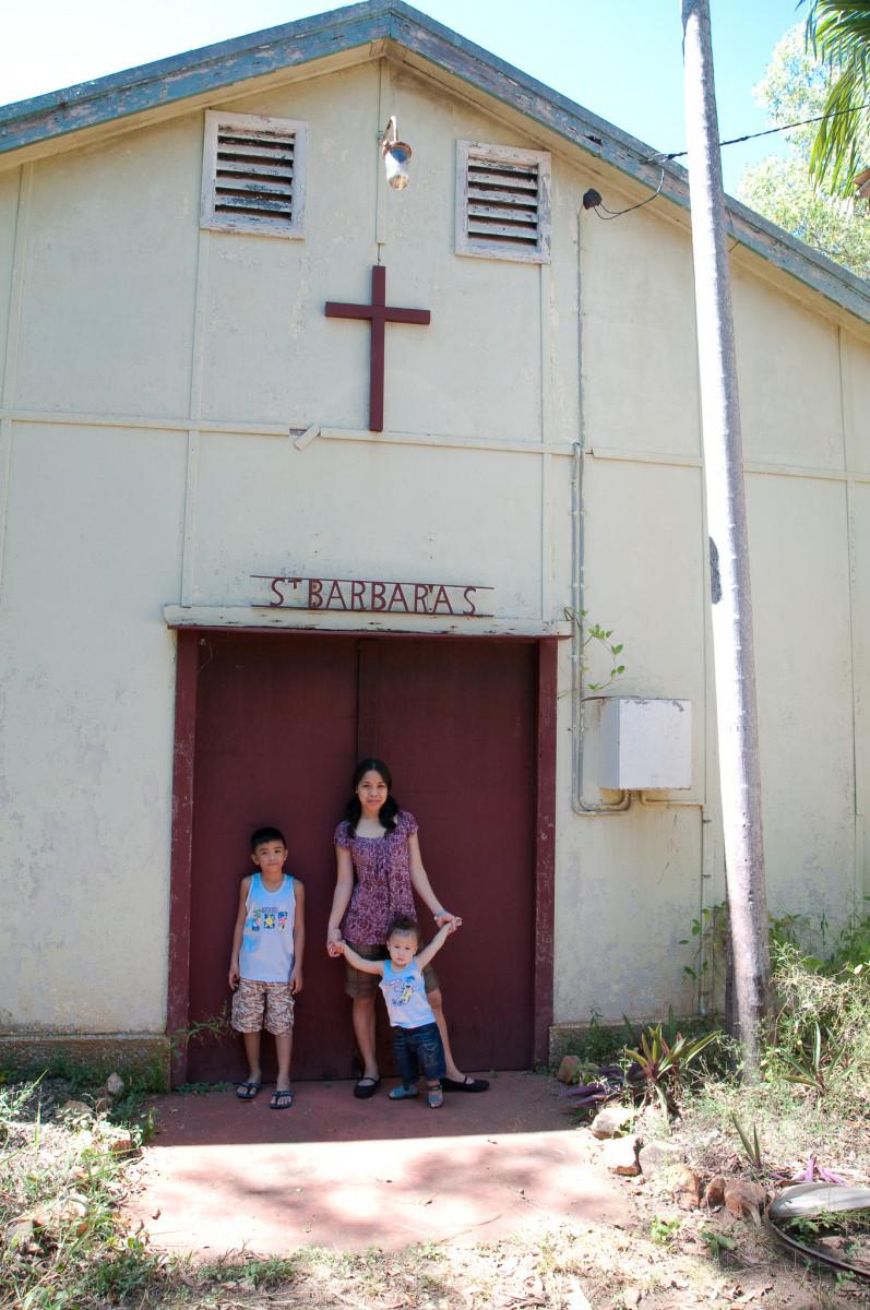 John, Glize and Aaron, St. Barbara's Catholic Church, Batchelor, Australia